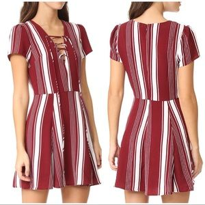 Lovers + friends revolve compass fit flare dress S